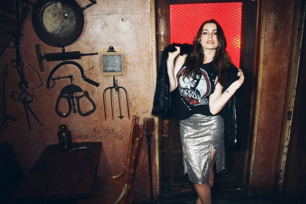 Sophie Simmons wearing some of her new collection available now on The Style Club