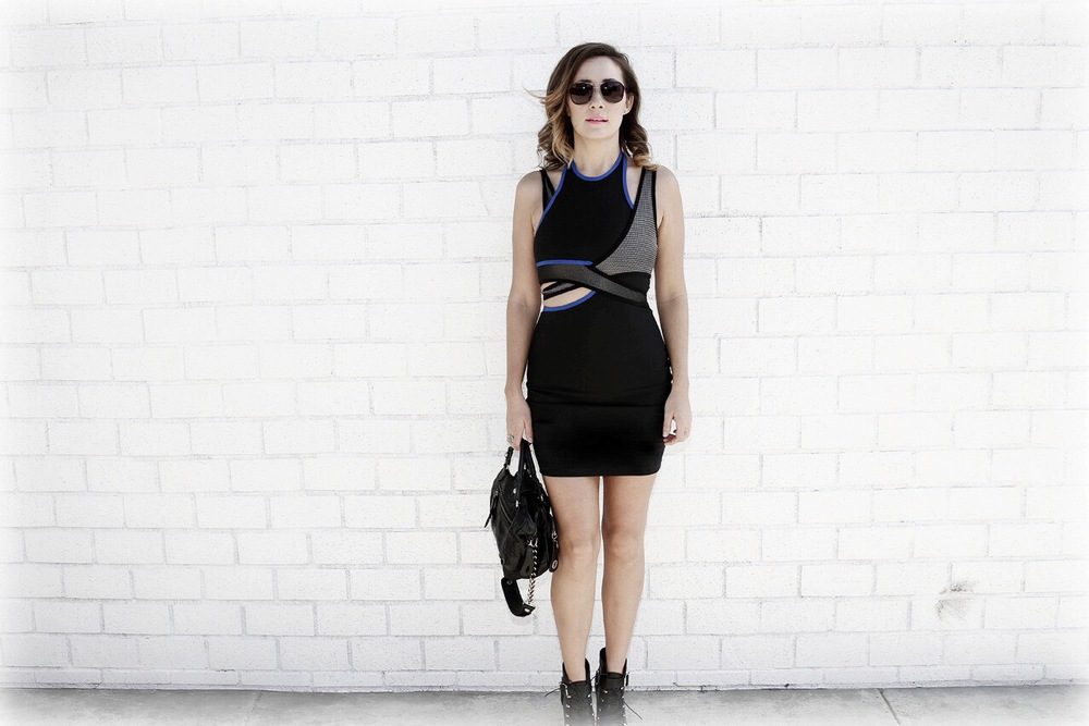 Alexander Wang x HM dress, Hype leather bag, both available on my Tradesy Closet