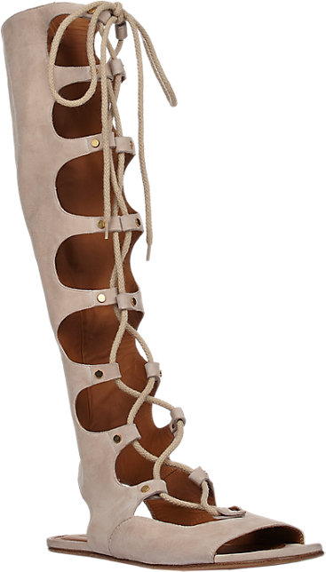 chloe lace up gladiator sandals