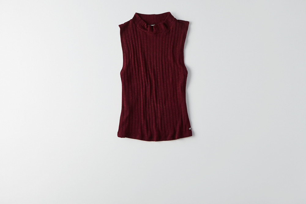 American eagle burgundy crop top
