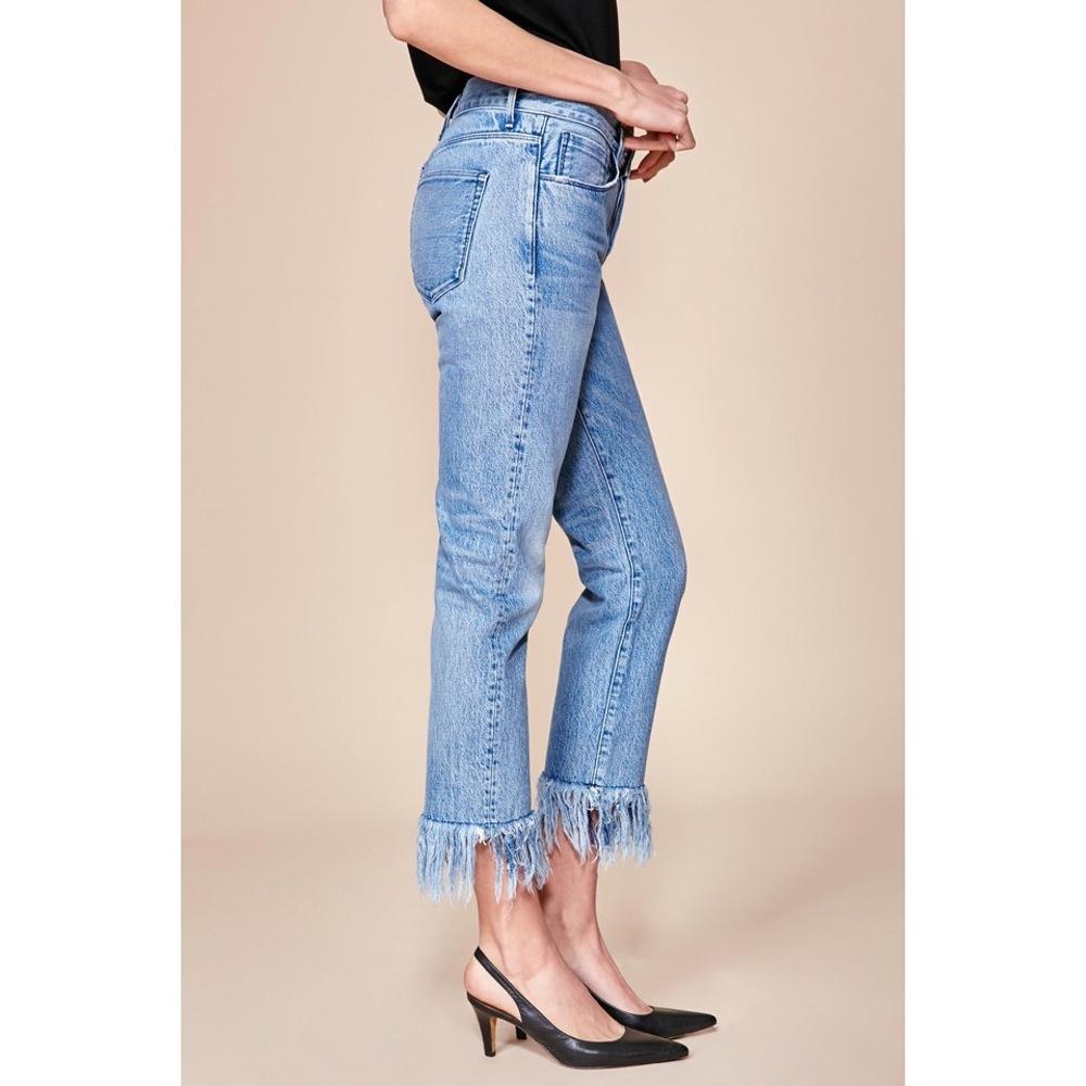 3 x 1 stella fringe cropped jeans