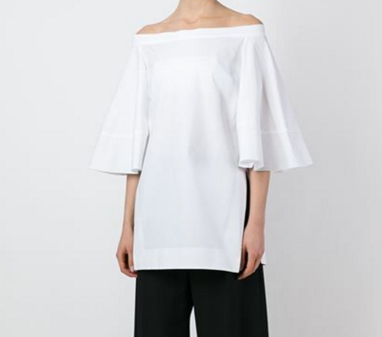 Ellery Flared sleeve off the shoulder blouse