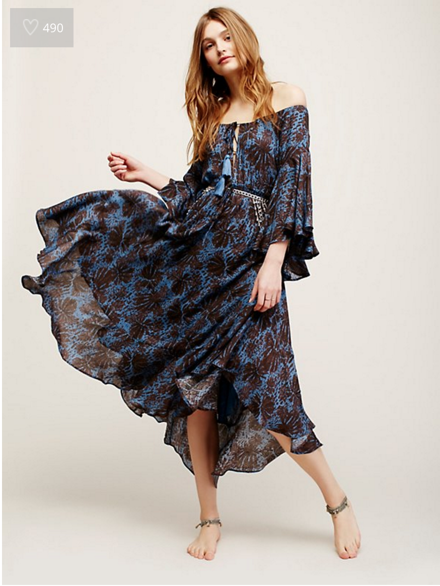 Free People Island Life blue maxi dress