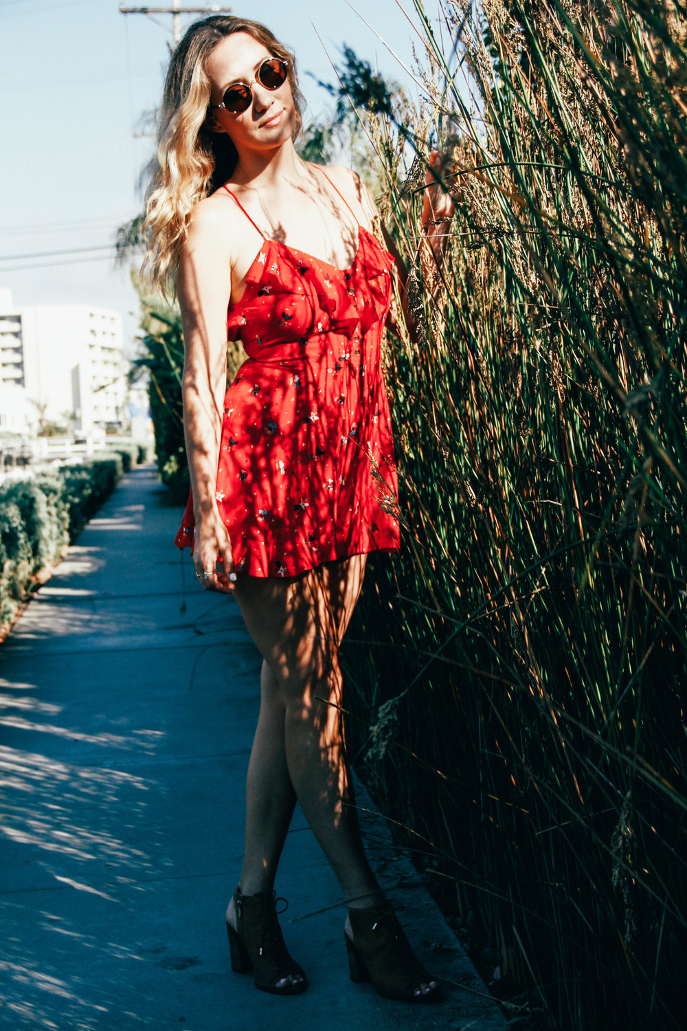 The Style Sauce Fashion Blog Red Romper Street Style Venice Beach