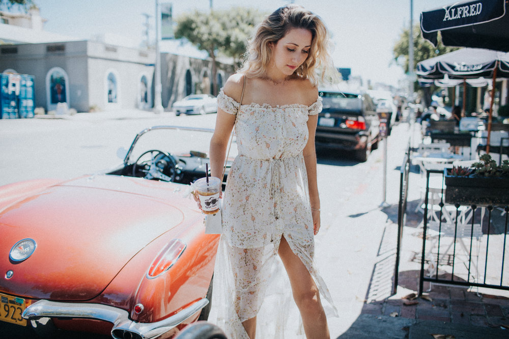 the style sauce blog maxi dress street style Alfred coffee