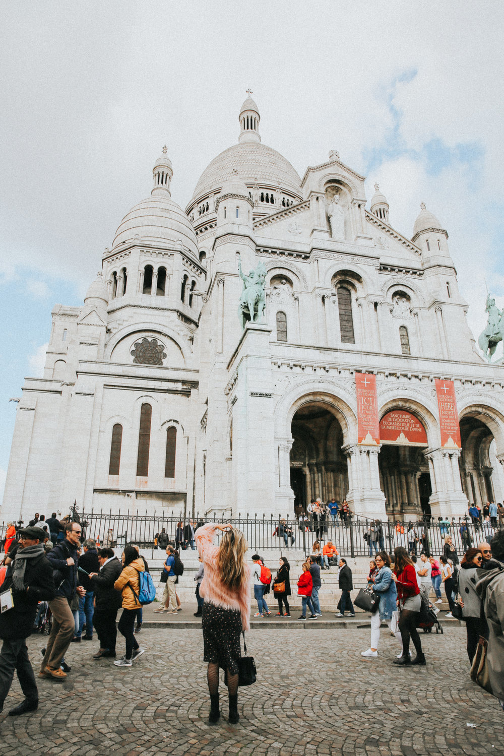 Visiting the Sacre Coeur church in Monmartre