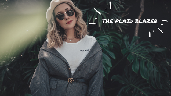 The Style sauce // plaid blazer // blog header