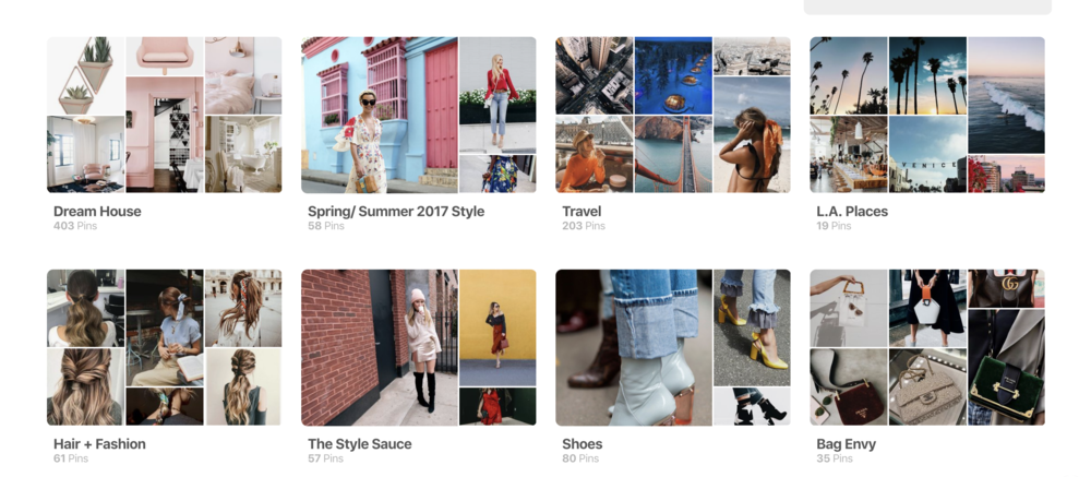The Style Sauce Pinterest screenshot // Pinterest board ideas