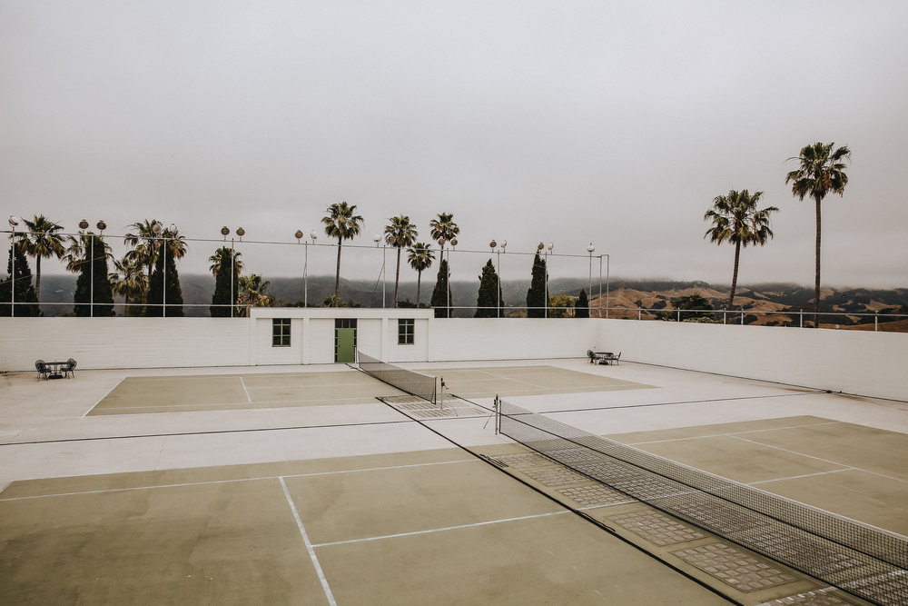 The tennis courts at Hearst Castle.