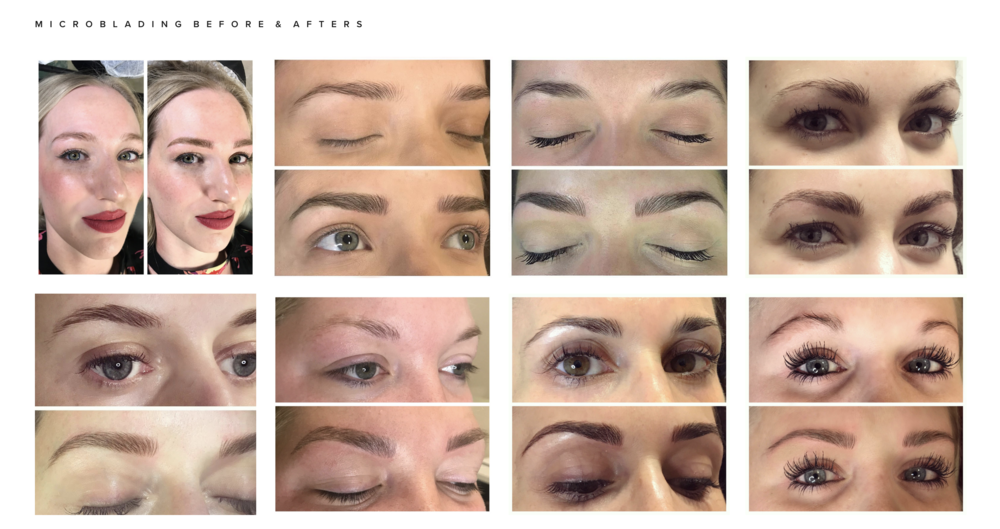 Some of Alix's before and afters of various clients.