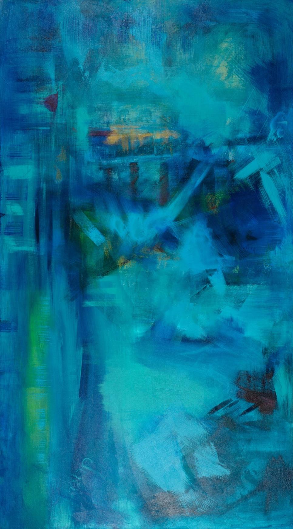 """Without Boundaries"" - 72 x 40"" - Sold - Sacramento, CA"