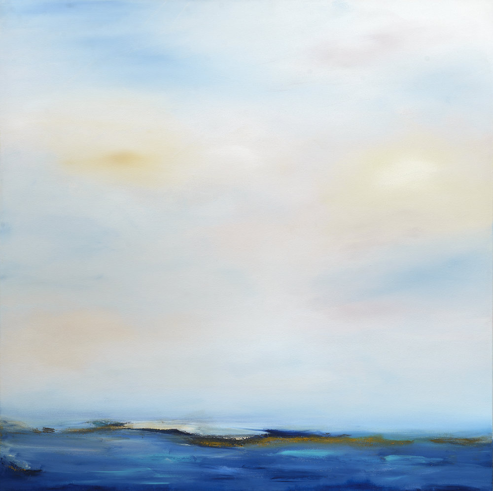 """Carmel Point River Mouth"" - 40 x 40"" - Sold - Carmel, CA"