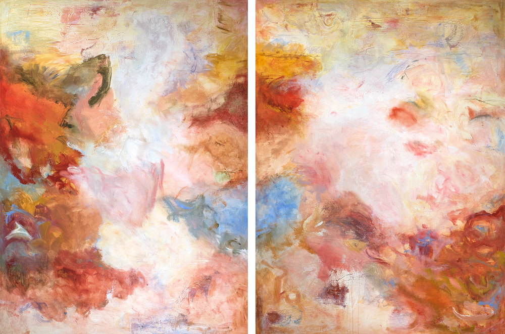 """Sending Love"" (Diptych) - 72 x 48 (each)"