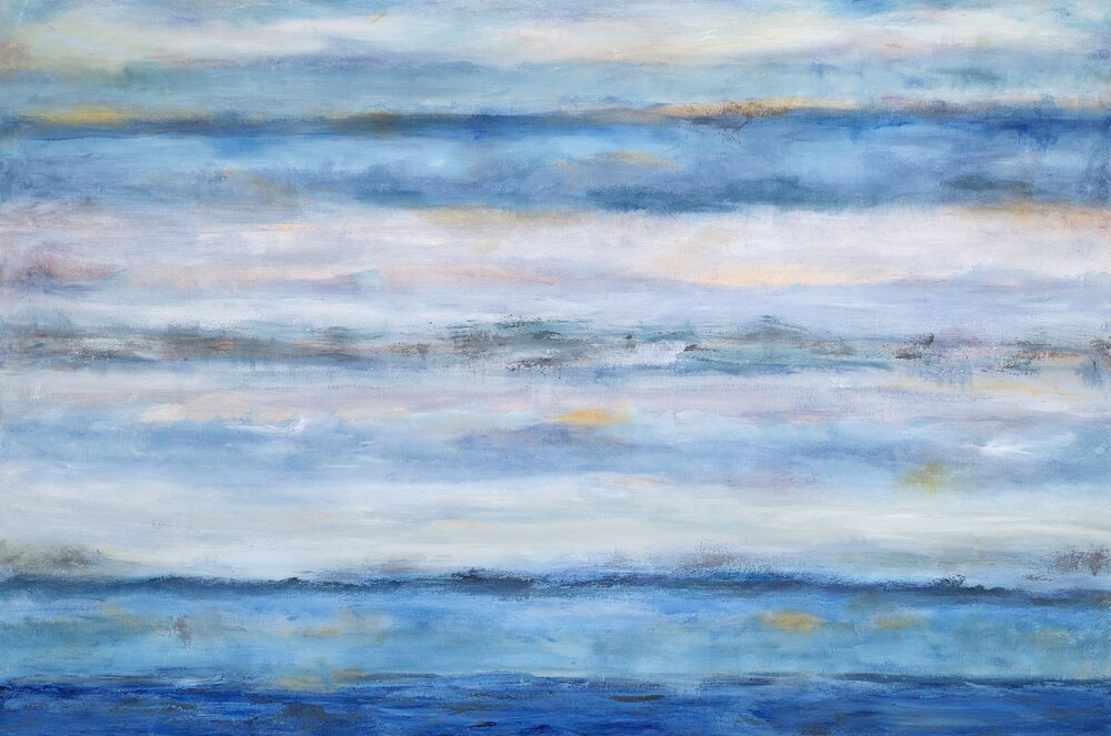 """Layers of Life and Sea"" - 40 x 60"""