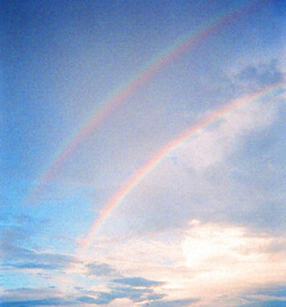 This double rainbow was brought to you by water… and a disposable camera!
