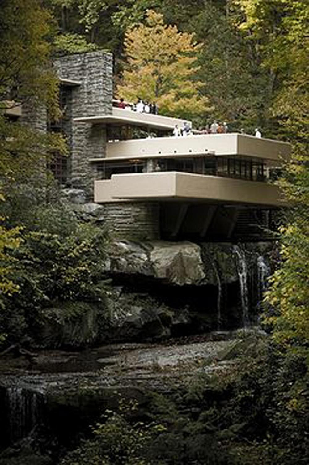 Wright's Fallingwater demonstrates how our natural world and man-made materials can beautifully co-exist. Photo source: Wikipedia, http://en.wikipedia.org/wiki/Fallingwater