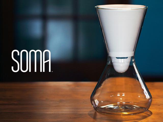 The Soma carafe's iconic hourglass shape is timeless. Photo courtesy of www.drinksoma.com.