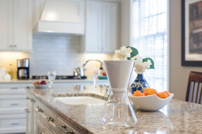 The Soma carafe integrates intent with aesthetics to create a classic design. Photo courtesy of www.kickstarter.com.