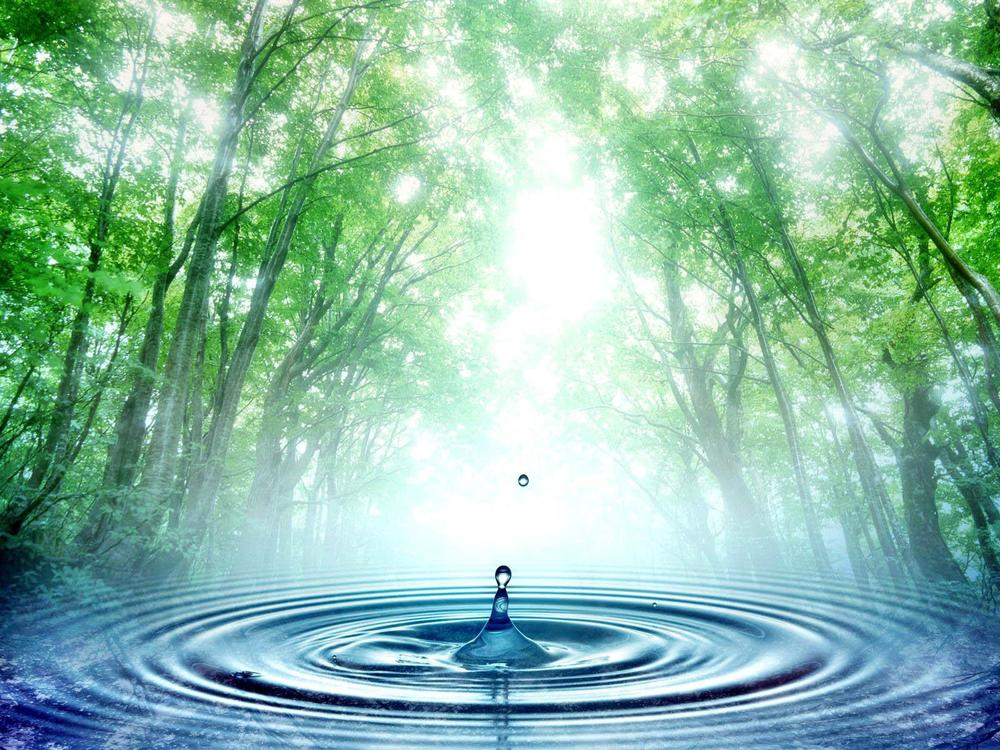 Every action we take is like a water droplet: our choices instantly create ripple effects in the world — whether they're positive or negative depends on our intention. Photo courtesy of www.unicef-org.blogspot.com