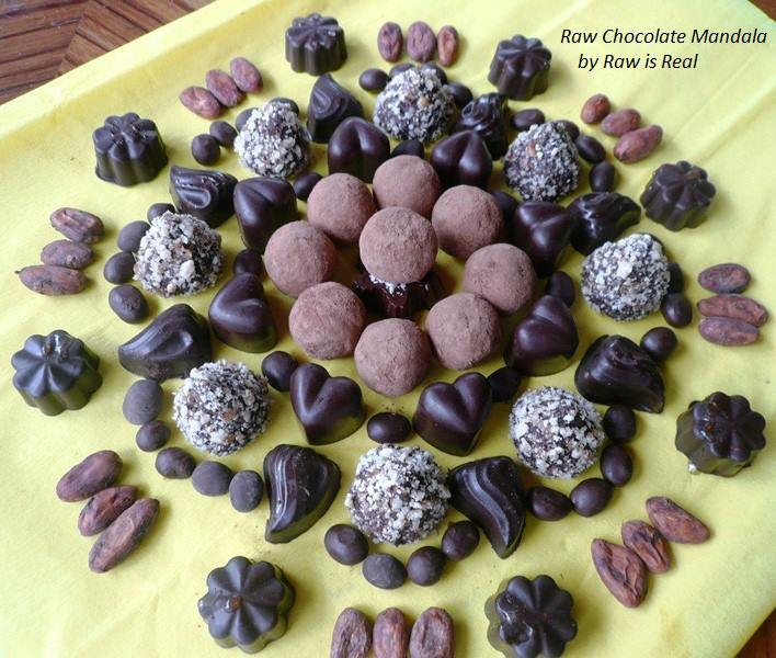 Indulging in the natural pleasure of raw chocolate can also inspire us to share the moment with friends and loved ones. Try hosting a small gathering where everyone brings their favorite simple treat (wine, smoothies, dips, etc.), and revel in collective luxury. Photo courtesy of Raw is Real.