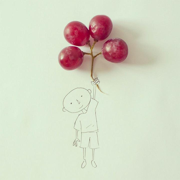 Art's ability to transform mundane objects into surreal creations remains magical to me. When I look at grapes at the grocery store from now on, I'll know that they're secretly balloons-in-hiding. Photo courtesy of www.mymodernmet.com.