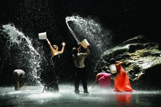 While being physical with water can certainly feel freeing, seeing professional dancers play with this magical life-source during a performance is truly awe-inspiring. Being present with water naturally increases our connection to our bodies; our lifelong homes. Photo by Laurent Philippe. Image source: dancingperfectlyfree.files.wordpress.com.