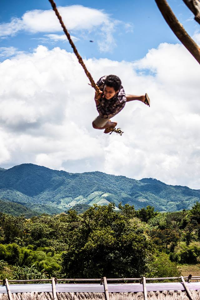 "Alezandra explains this beautiful shot: ""An incredible weekend at the Akha Swing Festival with our boys! So many smiles and amazing preservation of tradition."" Photo courtesy of Urban Light."