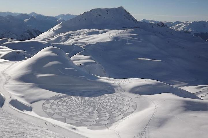 While wandering can also be beautiful, Beck's snow art demonstrates the astounding results of purposeful action. Welcoming life's liminal flow is easier when we stop trying so hard to hold on to people, work, and things. Image source: www.mymodernmet.com