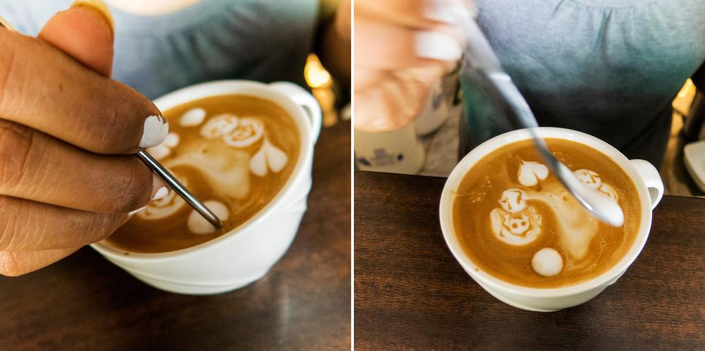 Latte artist Patty has a genuine love of all things visual — it's easy to get a sense that she really enjoys her work. Coffee always tastes better when made with love! Photo by Kimberly Bryant.