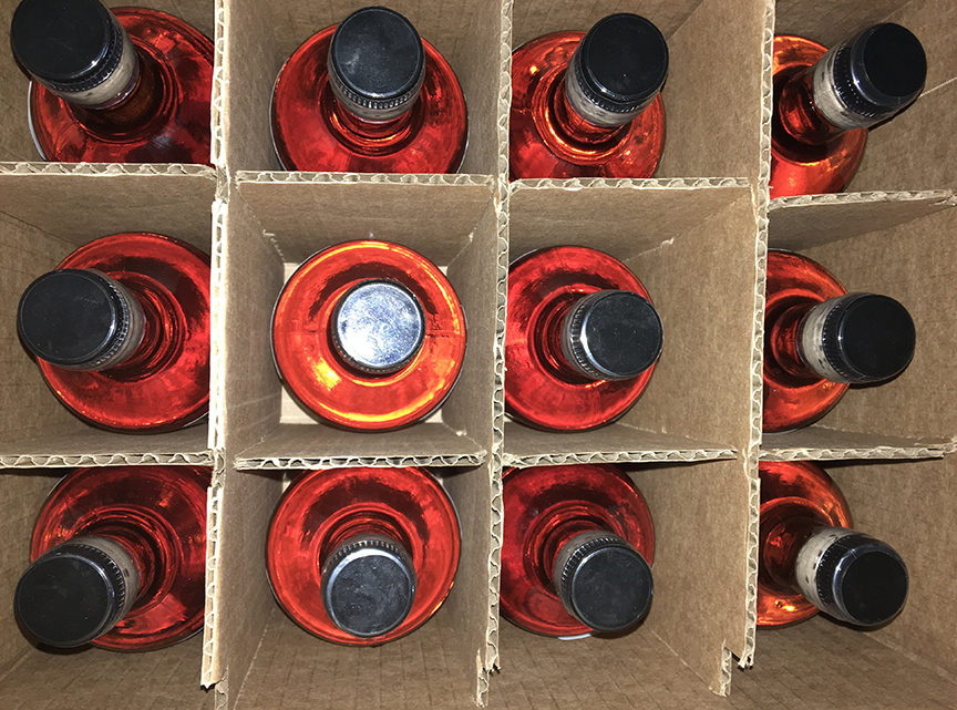 A fresh box of Chadwick's Maple Craft Spirits ready to be delivered.  Just beautiful.