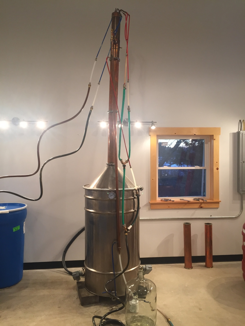 100 gallon, artisanal still.