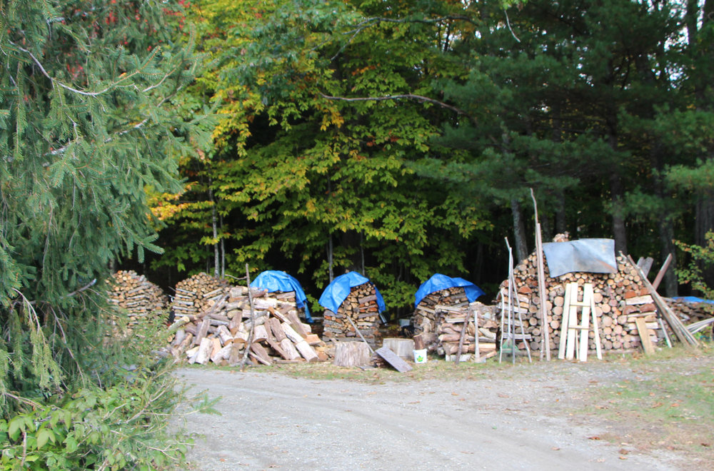 Having 10-15 chords of wood, all hand-chopped and nicely stacked is a standard occurrence for the Chadwick's, as it is for many residents in Maine.