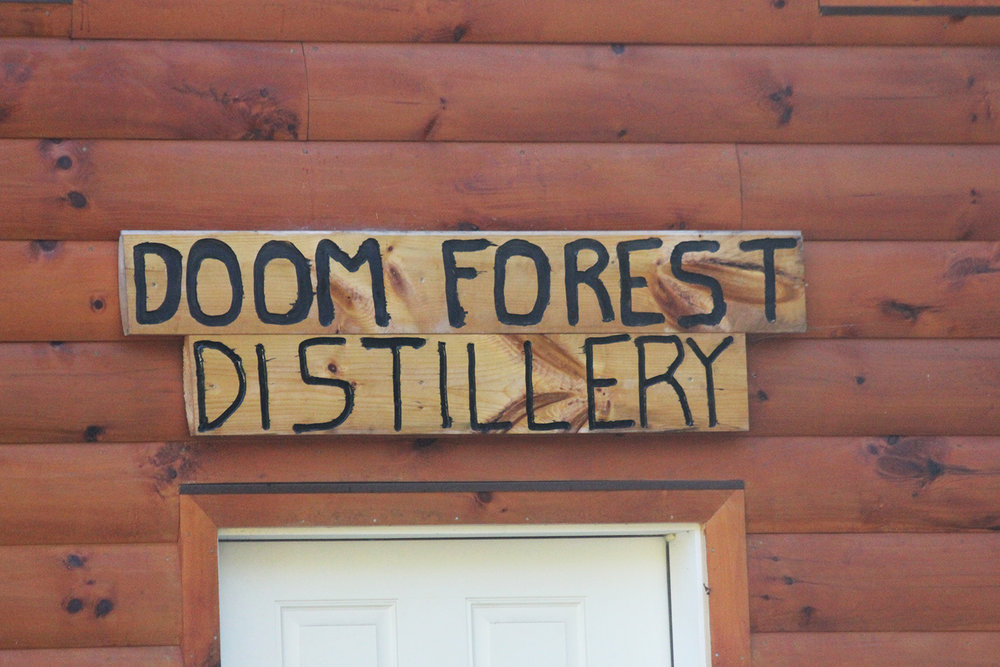 Handmade and Family-made is a common theme around here, including the sign over the Distillery door.
