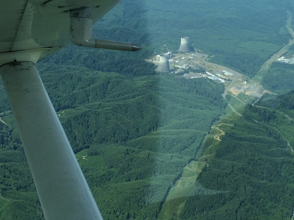 Satsop Nuclear Plant Cooling Towers @ 4,500 feet