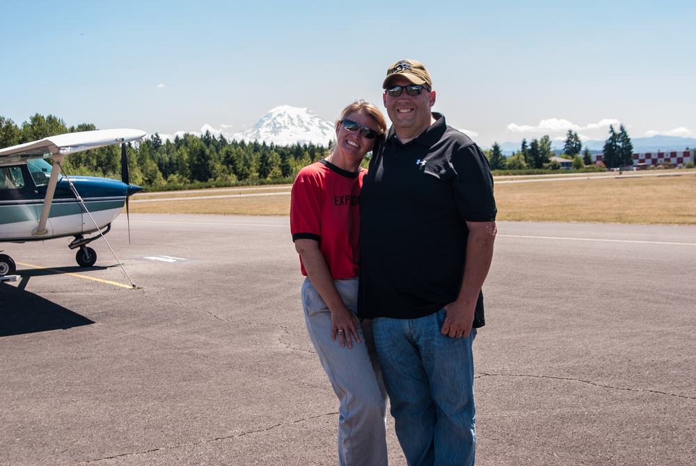 After our first flight together. Photo Credit - Meg Godlewski