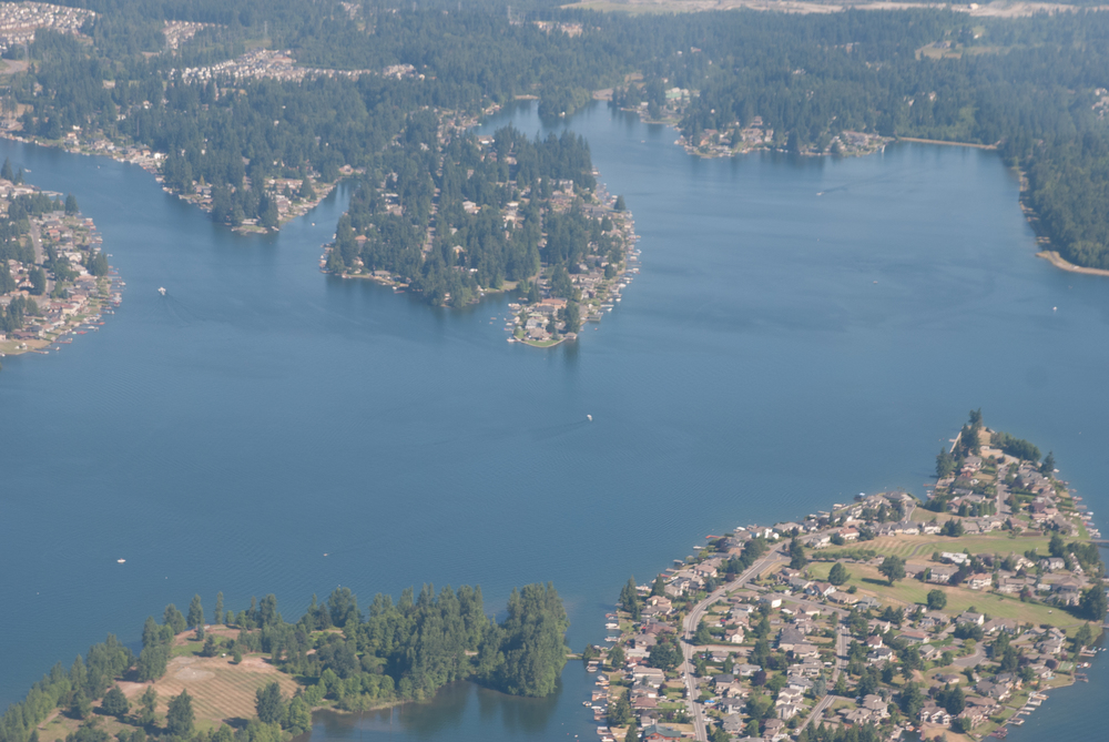 Lake Tapps from about 2,500 feet. Photo Credit - Teri Hurlbut