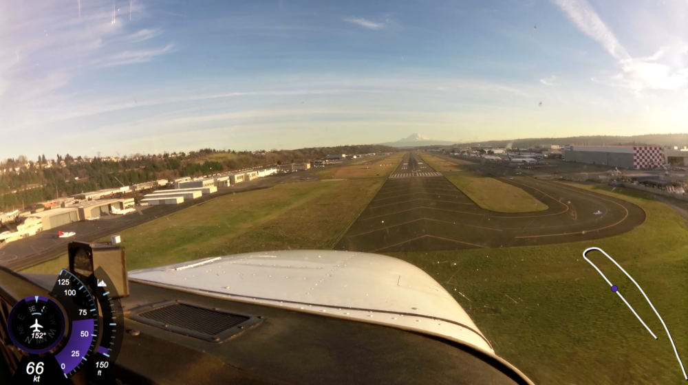 On Final Approach, Runway 13R at KBFI (Boeing Field)