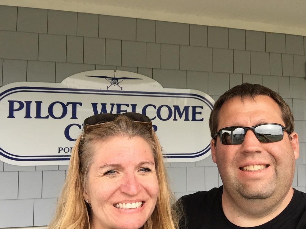 Teri and John at Friday Harbor Airport (KFHR) May 10, 2015