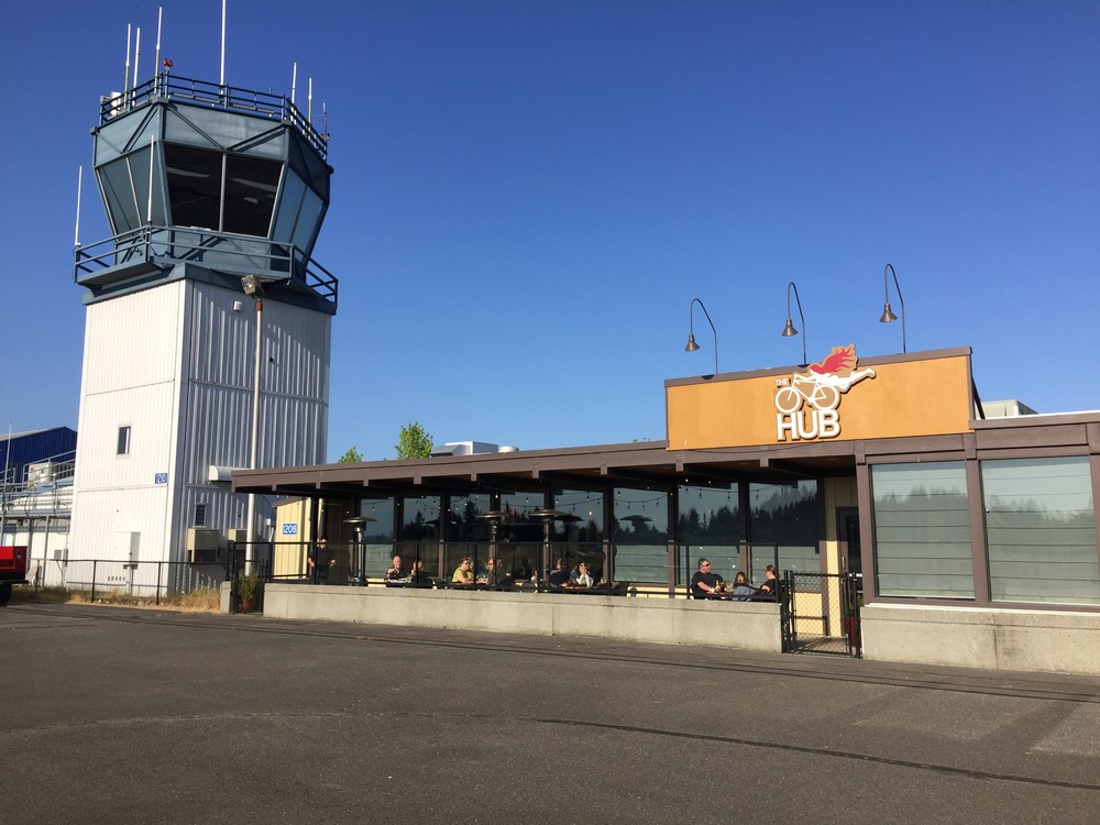 The Hub Restaurant and Control tower at KTIW.