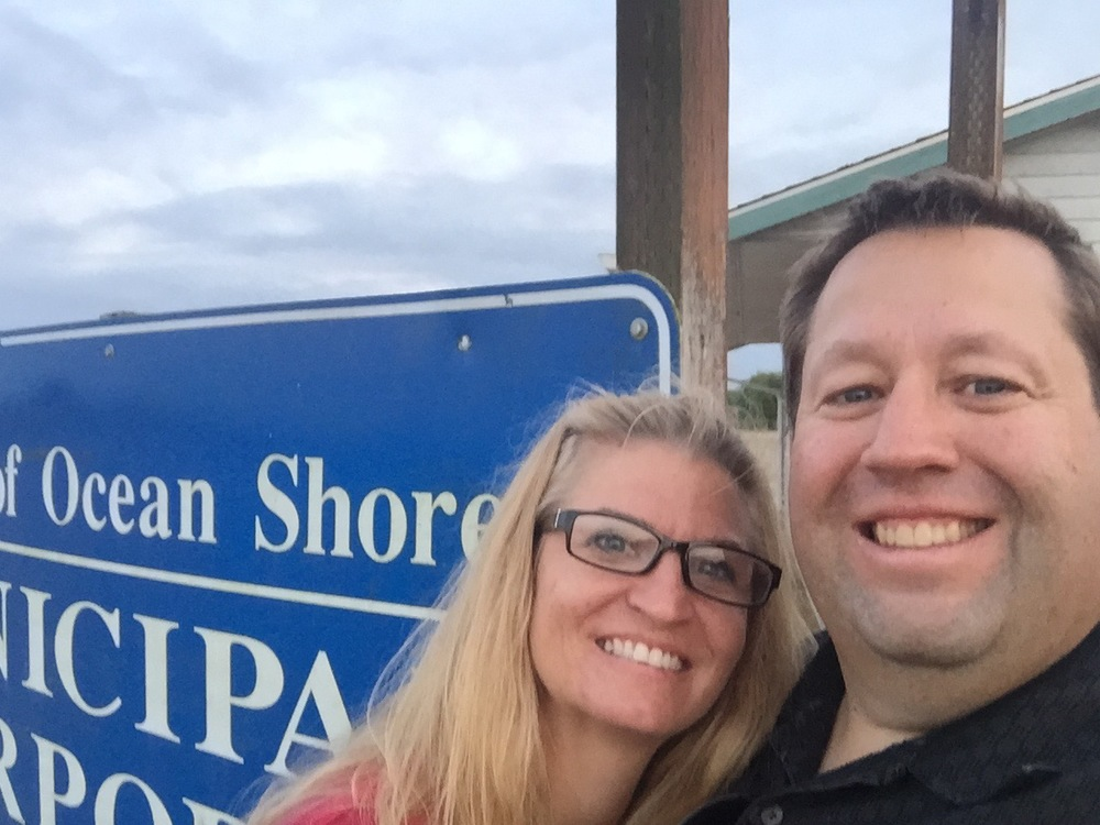No seriously, we WERE happy to be in Ocean Shores . . .