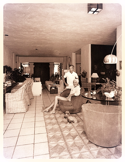 The Shoemaker Home Circa 1969 I Beverly Hills, CA  I  Note the Lucite stands under the glass table top