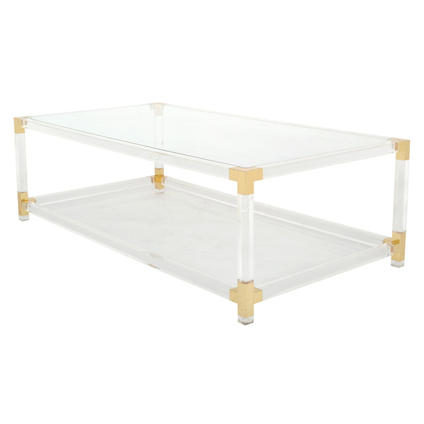 French Vintage Lucite & Brass Cocktail Table.jpg