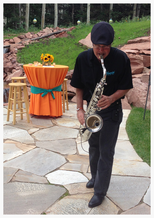 Talented Saxophonist and Vocalist George Gregory bringing his jazz vibe to the party.