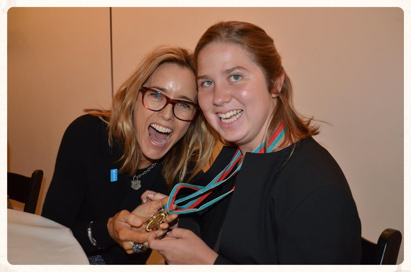 Lucy with actress Tea Leoni at the UNICEF Annual Meeting, May 2014