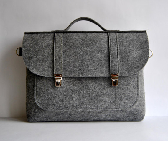 KM Baggies  FELT BRIEFCASE