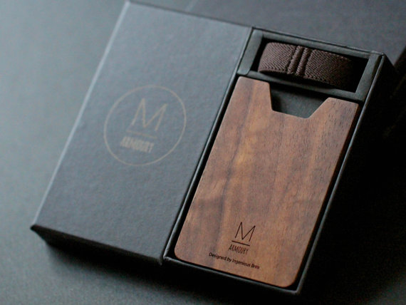 Ingenious Brothers  Wood credit card holder wallets