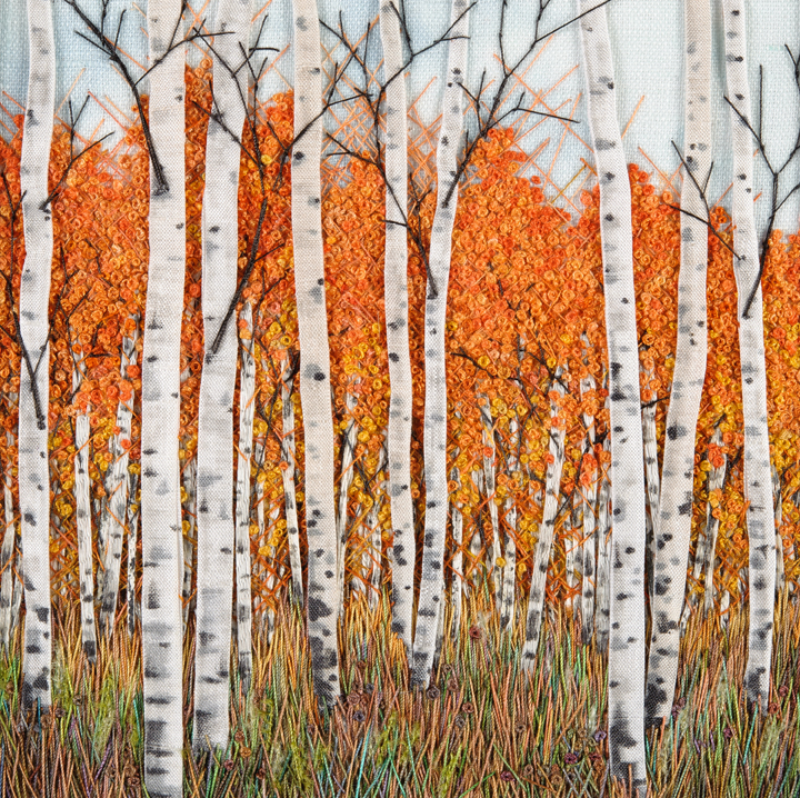 Birch Against Orange