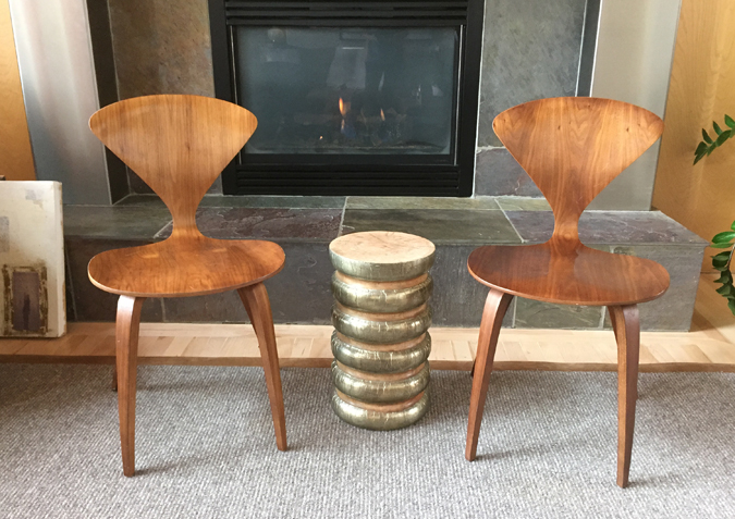 Cherner Walnut side chairs