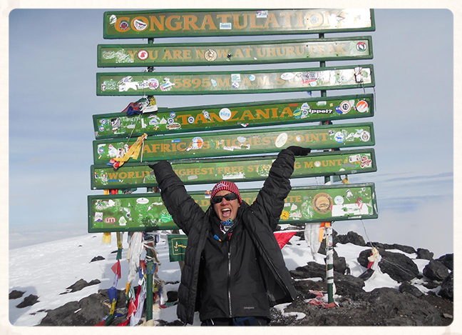 At the summit of Kilimanjaro February 2014