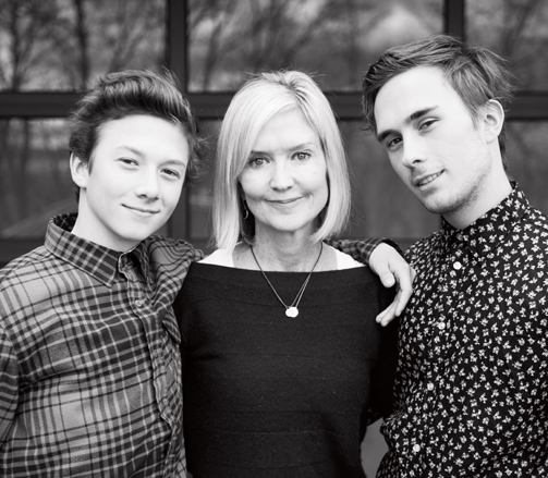 Stephanie with her sons  // Photo credit:Sarah Knight Photography